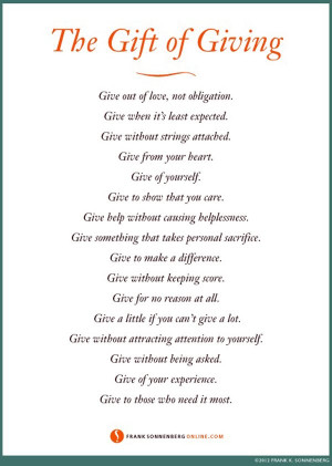 Inspirational Quotes Giving Gifts ~ Motivational Quotes for Nonprofit ...