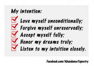 My Self-Love Intentions