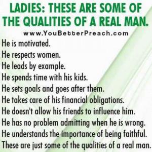 Good Man Qualities