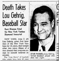 More of quotes gallery for Lou Gehrig's quotes