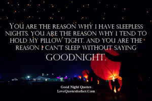romantic goodnight quotes for her