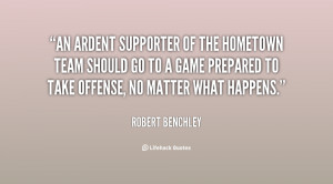 ... go to a game prepared to take offense, no matter what happens