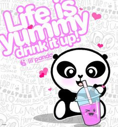 lil'panda Life is Yummy! #happy #panda #Love #quotes www.lilpanda.com ...