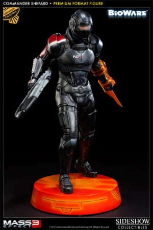 commander shepard premium format figure by sideshow collectibles