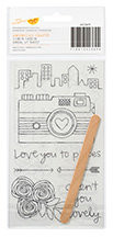 ... - Amy Tangerine Collection - Yes, Please - Rub On Transfers - Dream