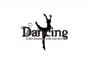 ... Decal Quote Vinyl Ballet Girls Dance Decor Wall Quote Decal 2 color