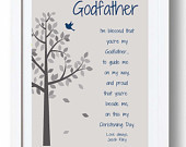 ... Godfather or Godmother - Gift from Godchild -Can be made in other