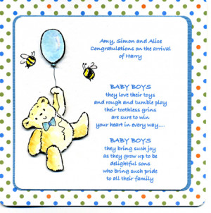New Baby Boy Greeting Cards