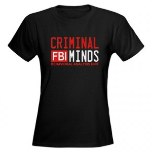 Criminal Minds FBI Women's Dark T-Shirt