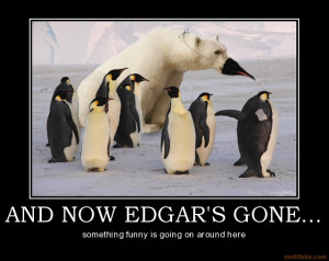 Funny Penguins Suicidal With A Sense Of Humor Funny Caption Picture