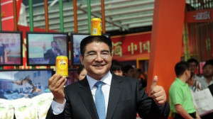Chinese billionaire Chen Guangbiao, pictured here with his canned ...
