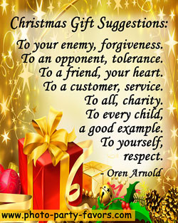 Christmas quote - Christmas Gift Suggestions: To your enemy ...