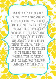 5x7 Prayer Quote by Gordon B Hinckley by EmilyJaneDesignsInc. , via ...