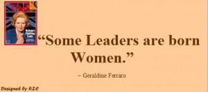 ... are born women