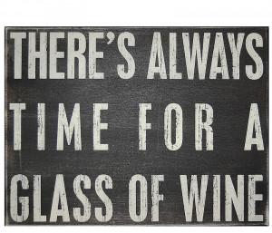 Black Box Sign - Glass of Wine