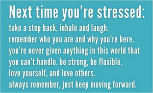 Stress is dessert spelled backwards