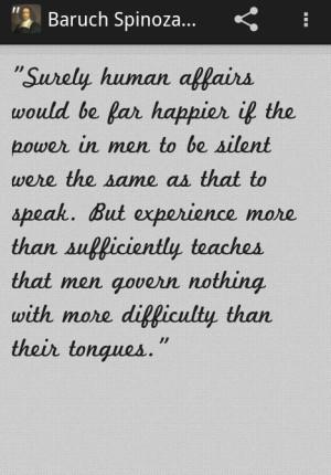 Baruch Spinoza Quotes Pro - screenshot