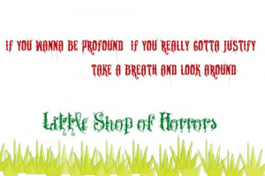 Tagged: little shop of horrors broadway musicals quotes