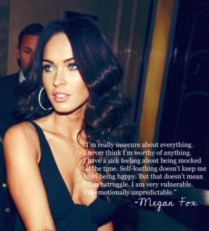 actress, gorgeous, megan fox, quote