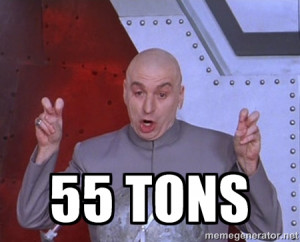 Dr. Evil Air Quotes - 55 tons