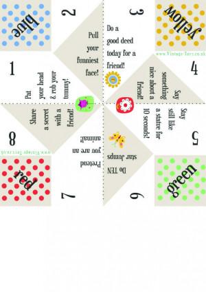 Paper Fortune Teller, Challenges Fortune, Kids, Fortune Teller Paper ...