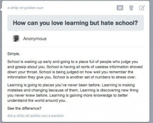 This is why I hate school.