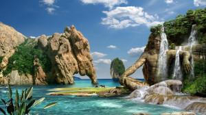 Image fond ecran Paysage en 3D fond écran gratuit à télécharger