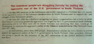 Anti Vietnam War Quotes Depicts american anti-war