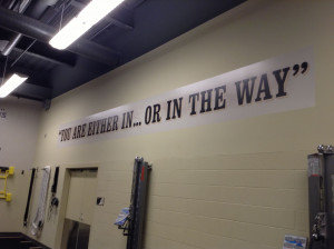 ... quote from the inside of the Pittsburgh Penguins training facility