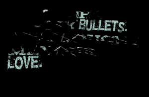brought you my bullets. You brought me your love.