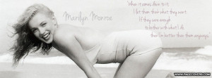 Marilyn Monroe Famous Quote Facebook Cover - PageCovers.