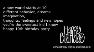 Happy Birthday 10 Year Old Boy