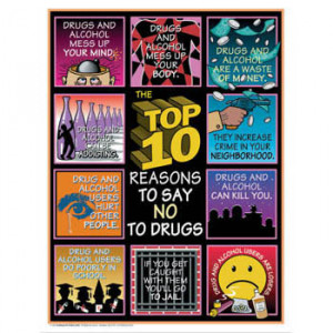 Top 10 Reasons to Say No to Drugs Poster