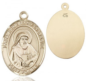 St. Bede the Venerable Medal - 14K Yellow Gold