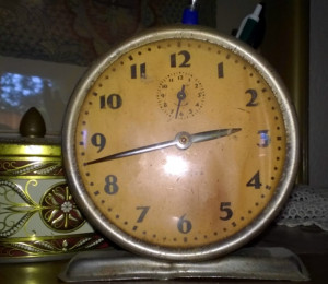 One of several clocks around our house that need reset...