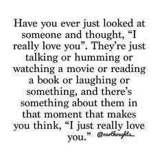 Awe !!! When he looks at me and says how much do you love me this much ...