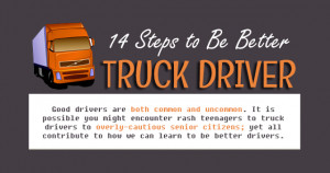 14 Steps To Be Better Truck Driver [Infographic]