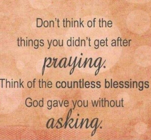 God Gave You Without Asking