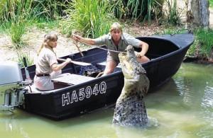 ... Irwin and Terri Irwin in The Crocodile Hunter: Collision Course (2002