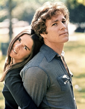 Ryan O'Neal and Ali MacGraw in