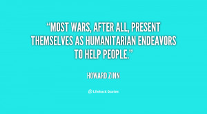 ... all, present themselves as humanitarian endeavors to help people