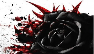 Black bleeding rose Image