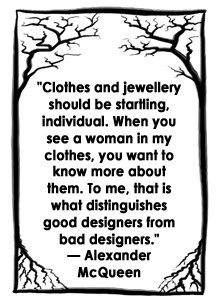 Fashion Quote from Alexander McQueen