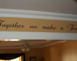 Family wall decal Vinyl lettering wall word Quotes sticky letters ...
