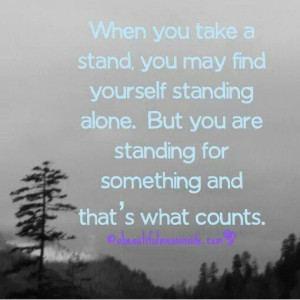 stand up for your beliefs