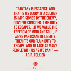 one of my favorite tolkien quotes on writing