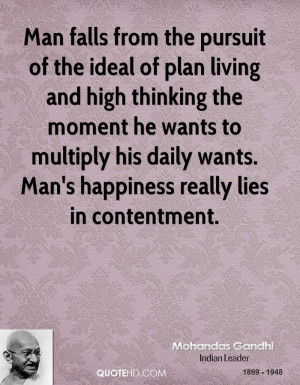 Man falls from the pursuit of the ideal of plan living and high ...