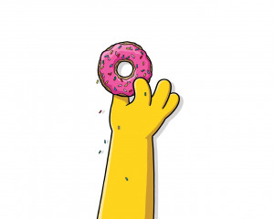 Images Of Donuts Homer Simpson Quote Wallpaper - kootation.