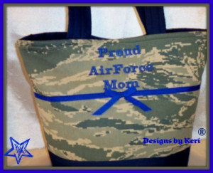 Air Force Military camo tote bag purse handbag daughter size