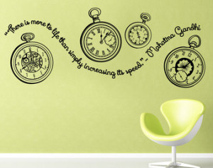 Gandhi quote- pocket watches decal with quote about time from Gandhi ...